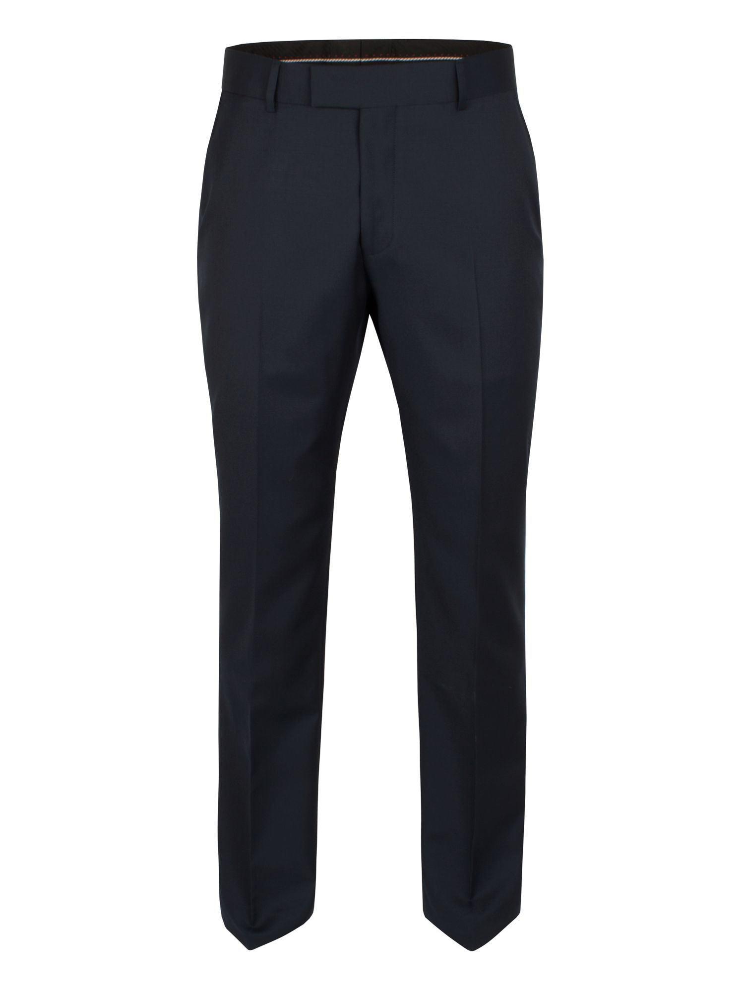 Plain navy wool trouser
