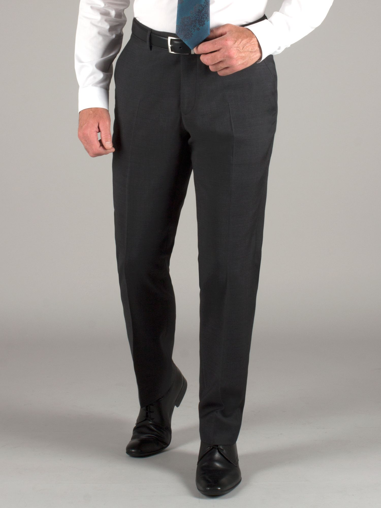 Plain charcoal wool trouser
