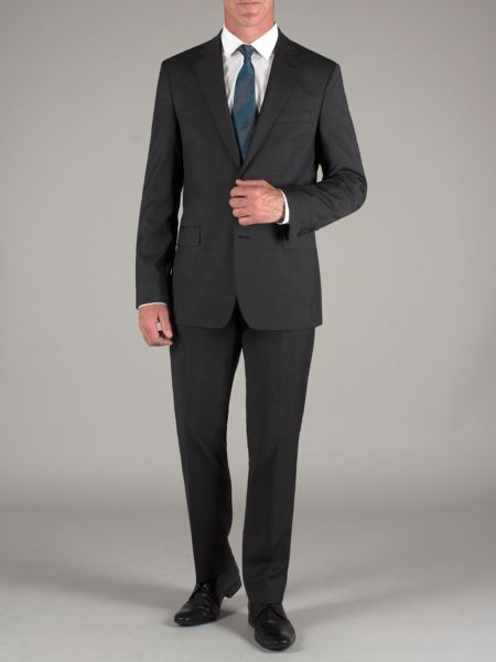 Alexandre of England Plain charcoal wool trousers
