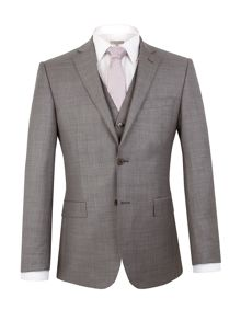 Alexandre of England Grey sharkskin jacket
