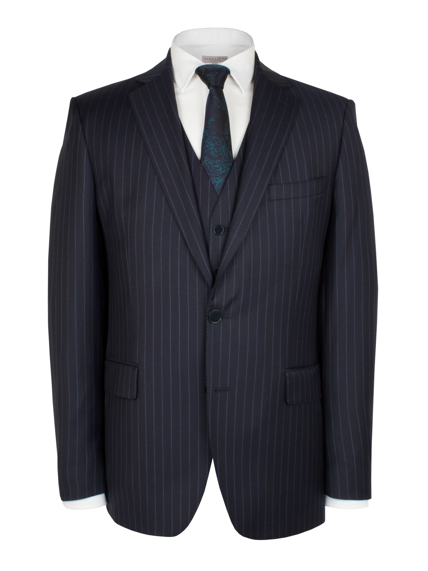 Navy blue stripe jacket