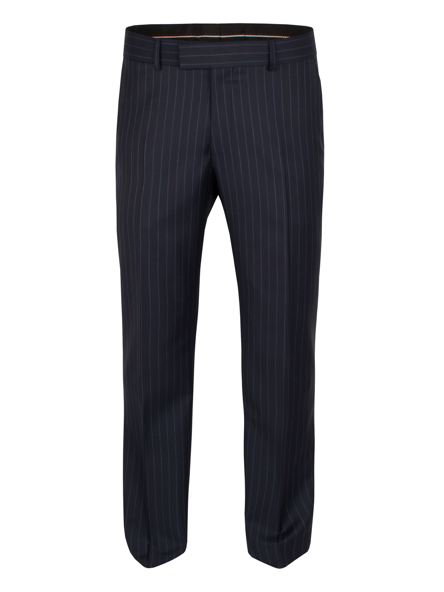 Navy blue stripe trouser