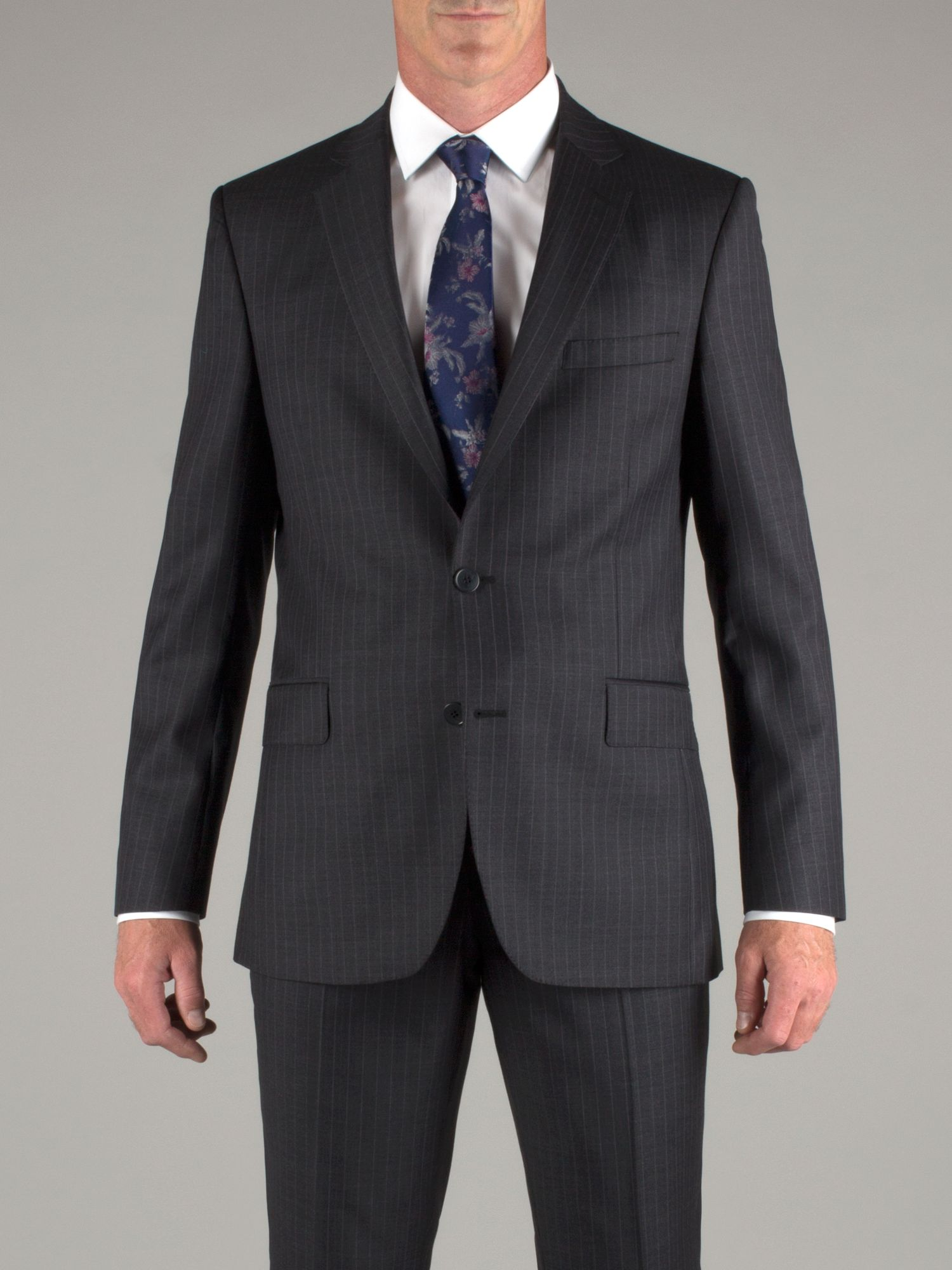 Grey purple pinstripe jacket