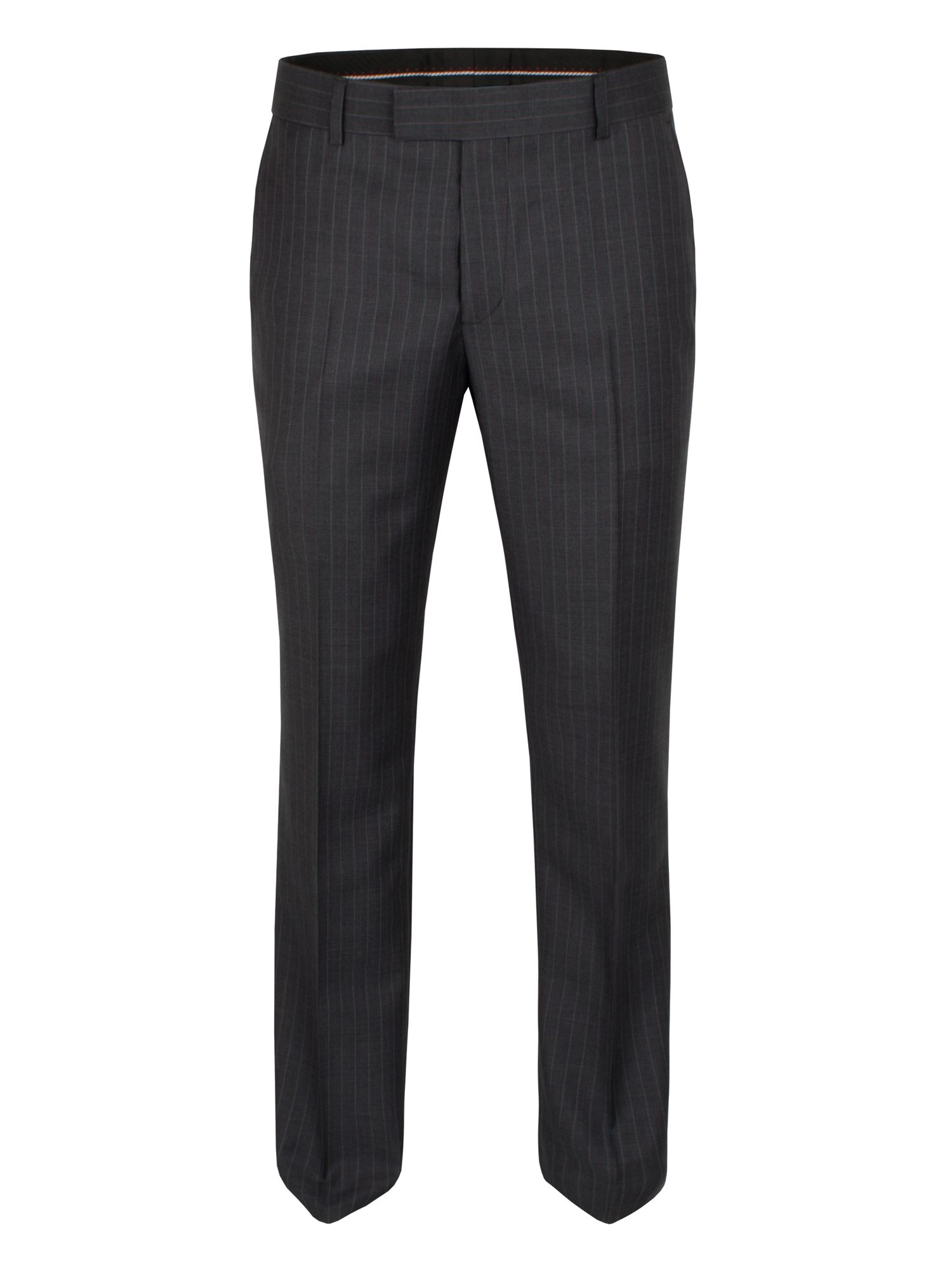 Grey purple pinstripe trouser