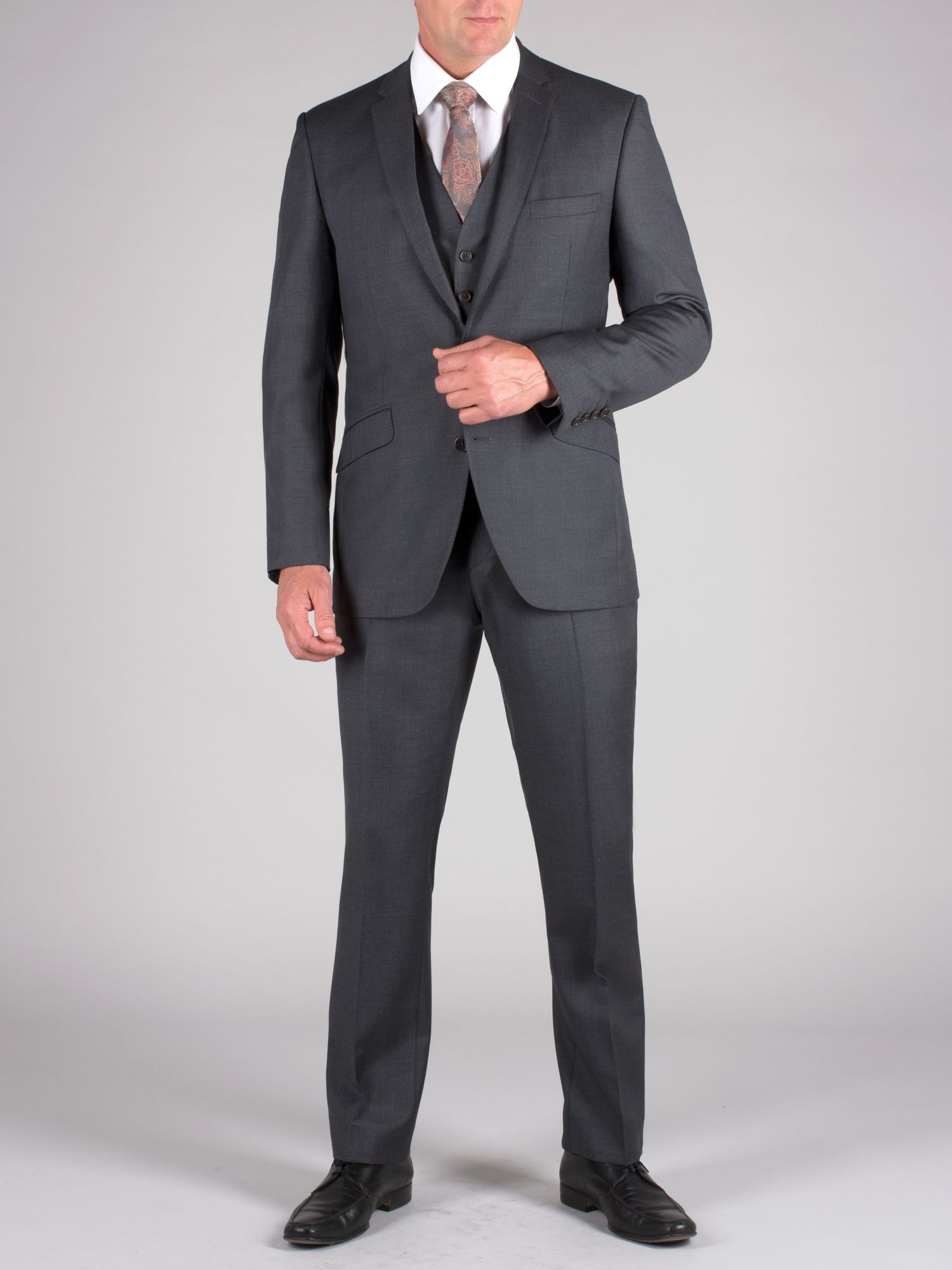 Plain charcoal cashmere suit