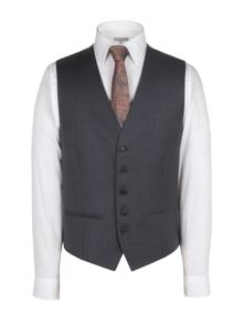 Alexandre of England Plain charcoal cashmere twill waistcoat