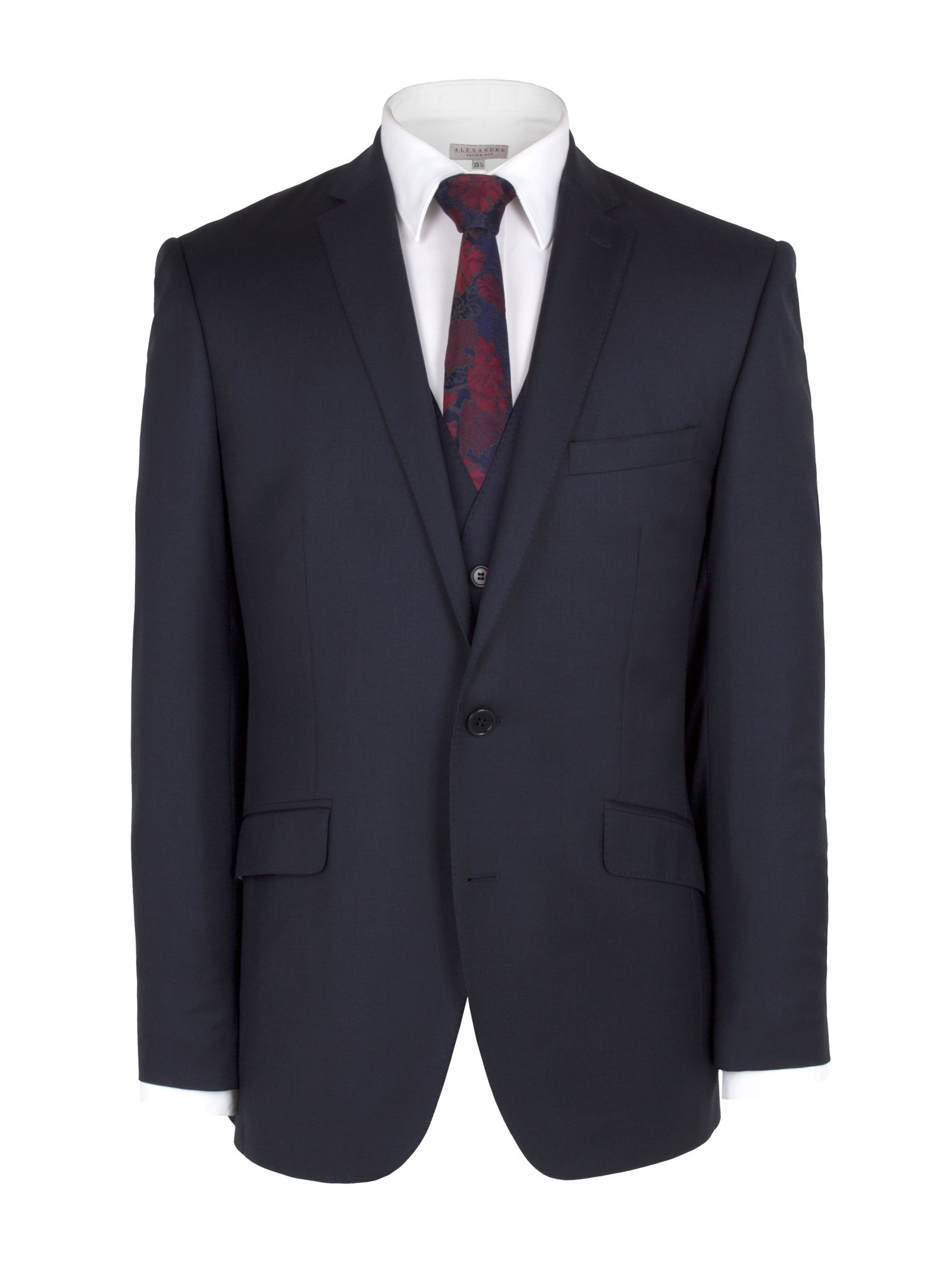 Plain navy cashmere suit