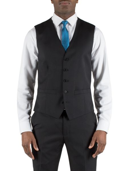 Alexandre of England Black wool core waistcoat