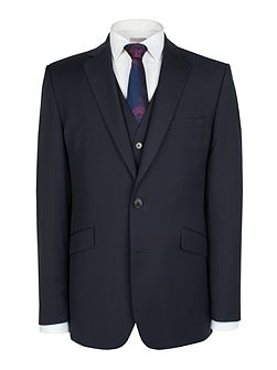 Blue Plain Weave Jacket