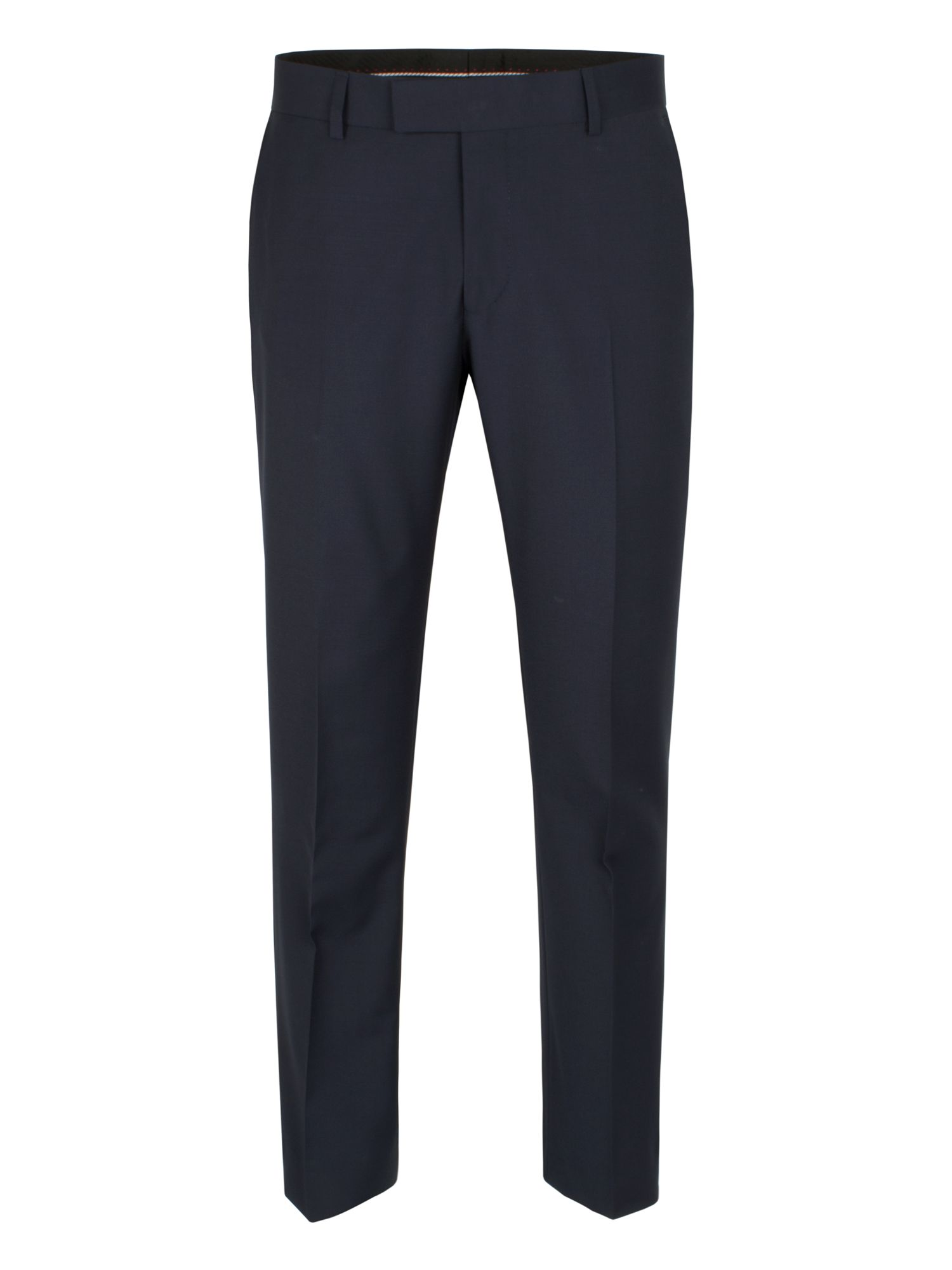 Blue Plain Weave Trouser