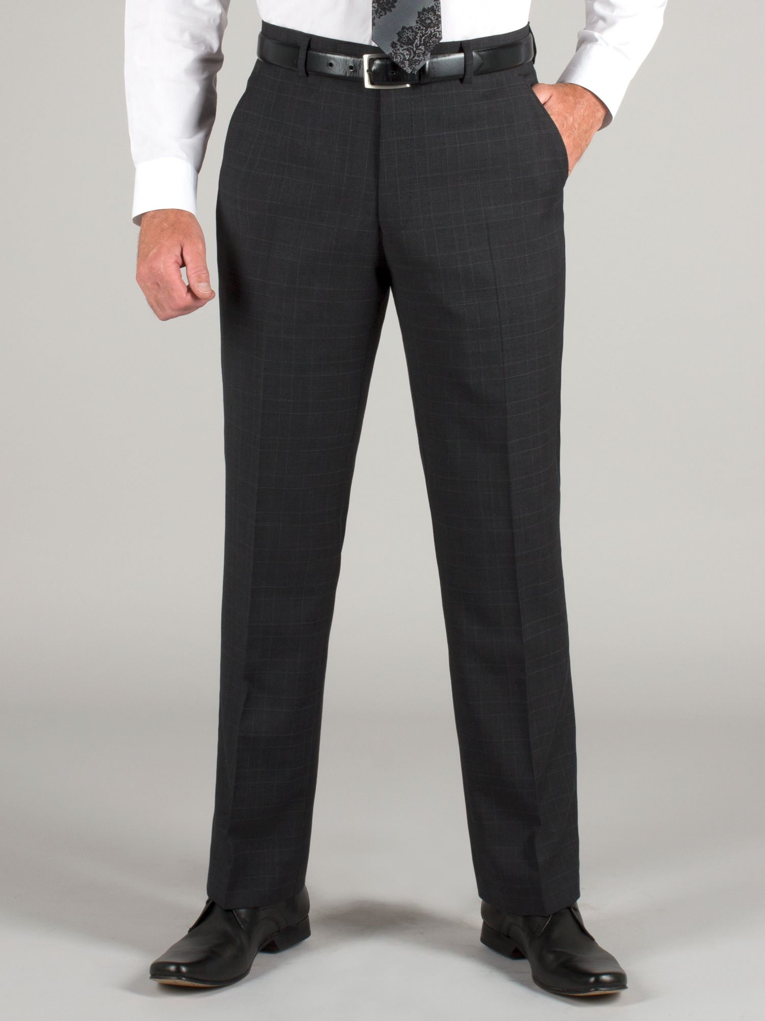 Dark grey check trouser