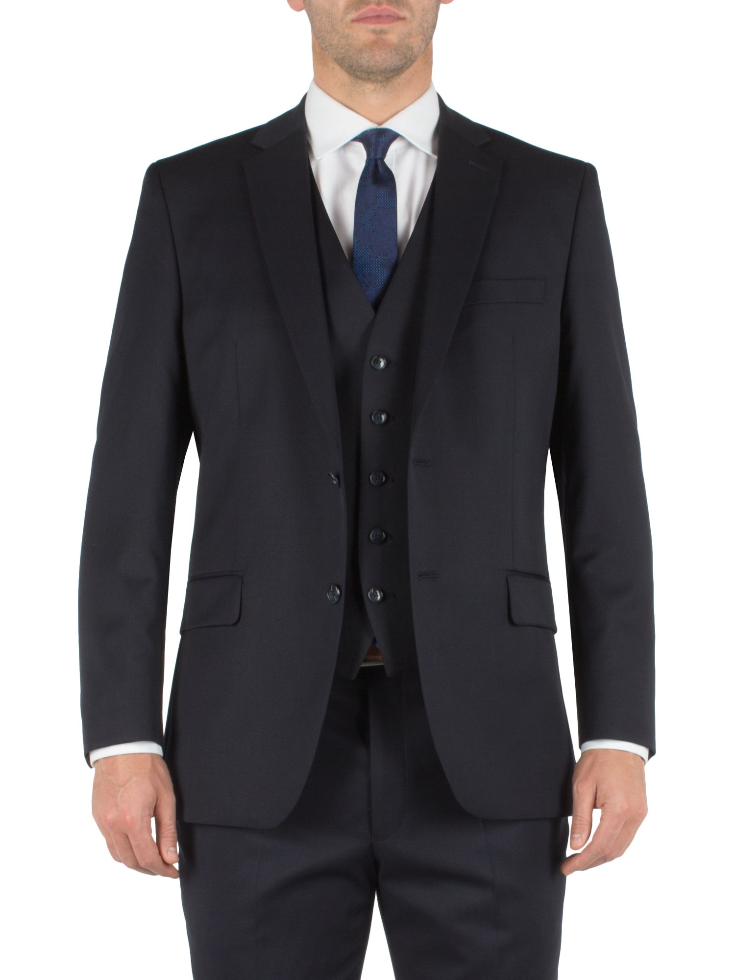 Twill single breasted suit jacket