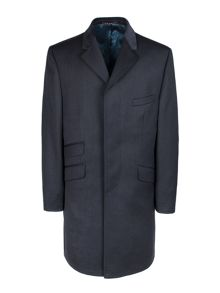 Navy covert overcoat