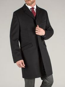Luxury black overcoat