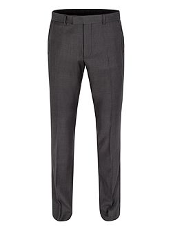 Graphite twill formal suit trousers