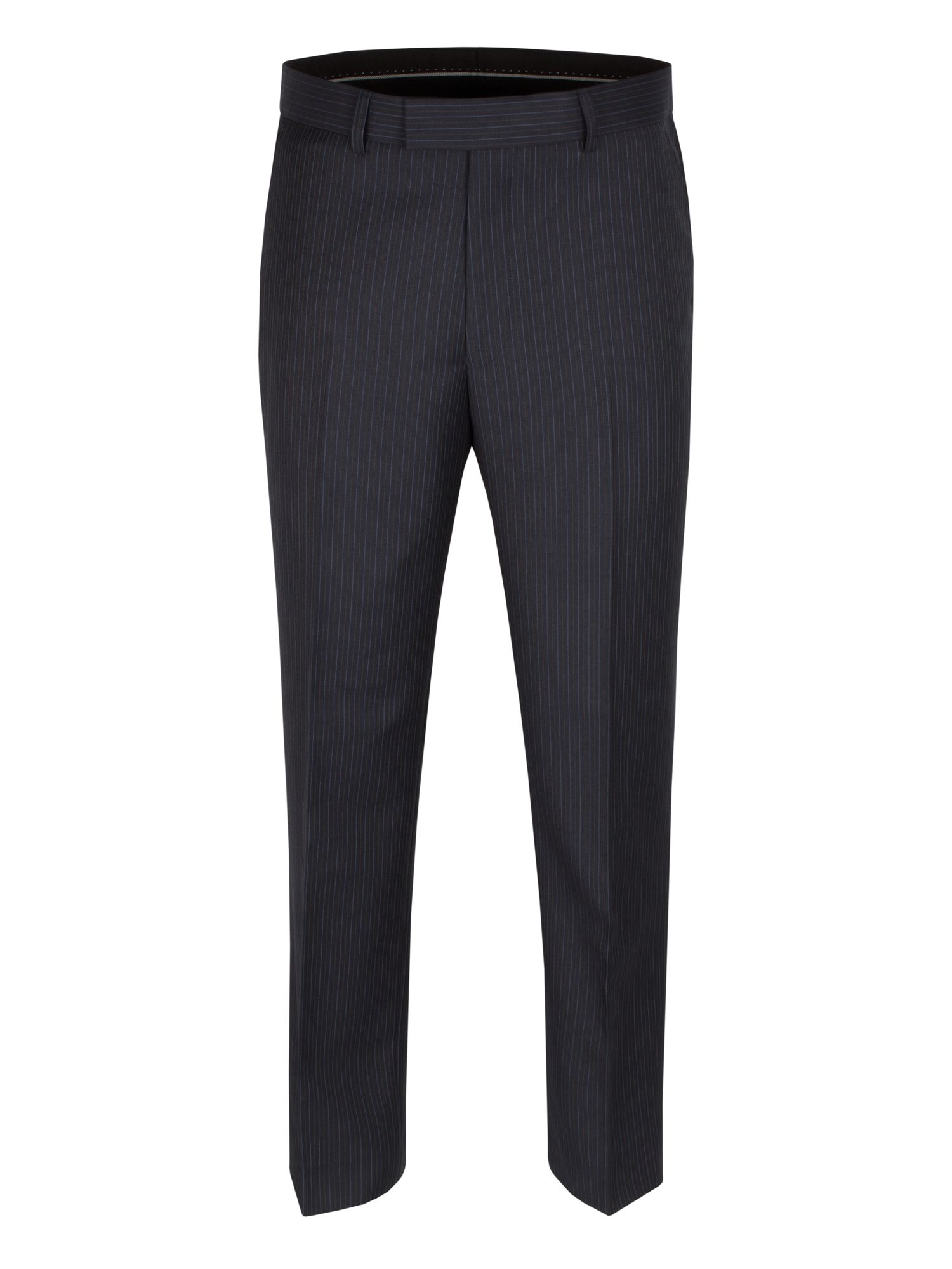 Navy multi stripe trouser