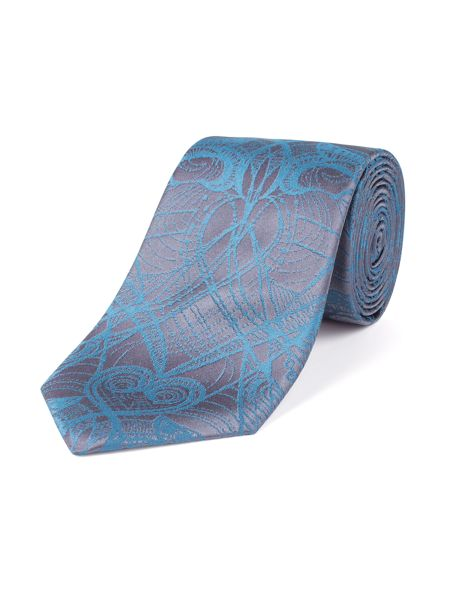 Alexandre of England Teal abstract heart tie