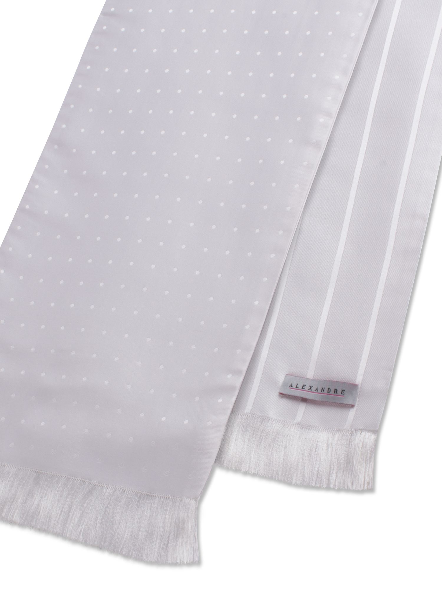 White striped and spotted scarf