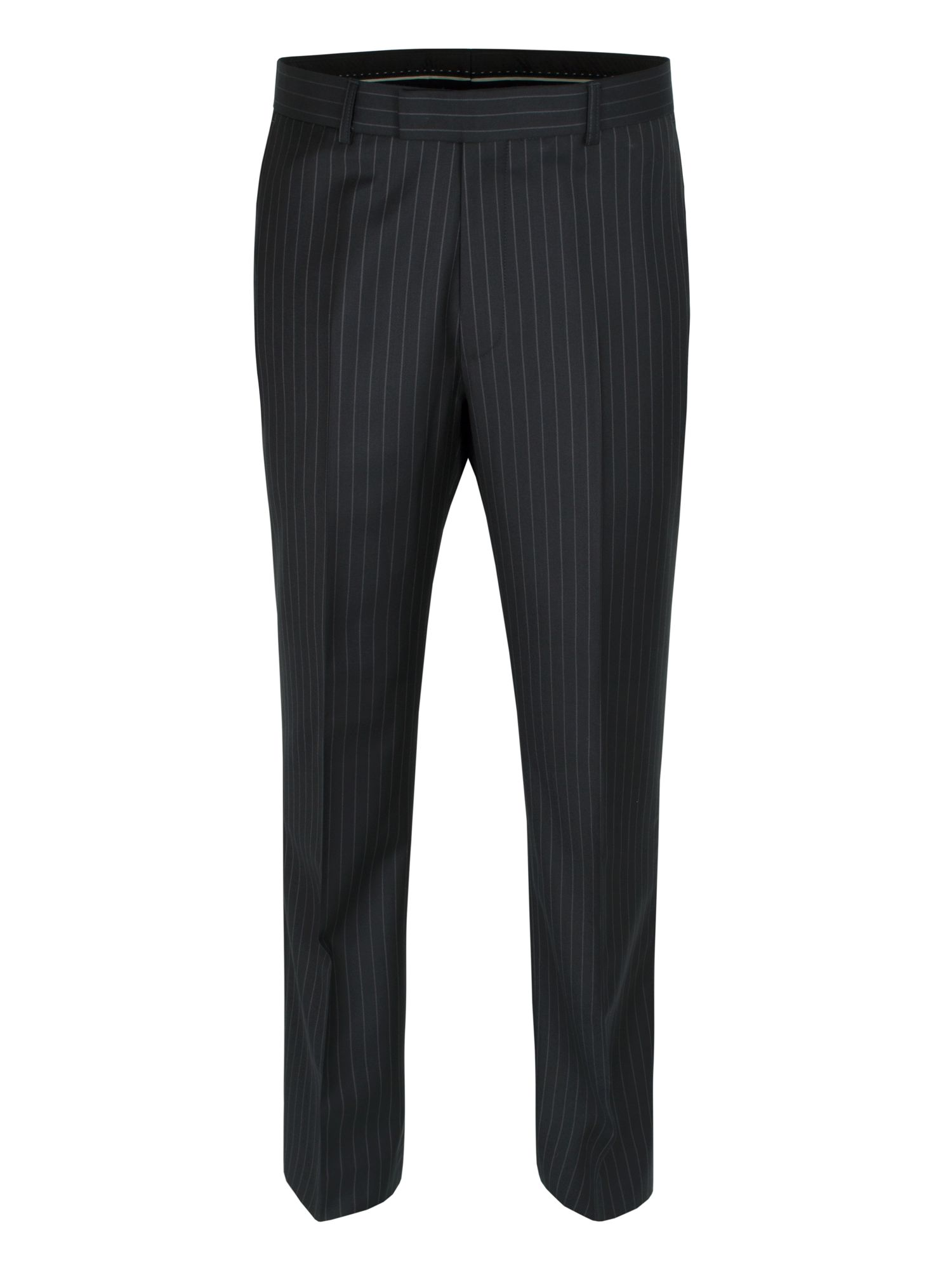 Black stripe wool trouser