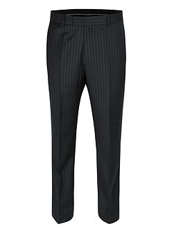 Black stripe wool trousers