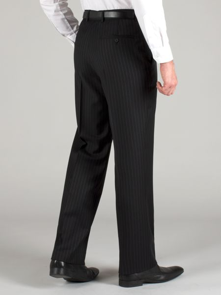 Racing Green Black stripe wool trousers