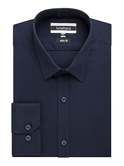 Limehaus navy plain shirt