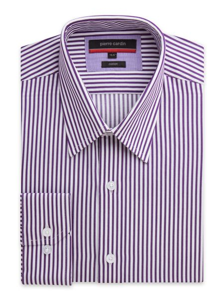 Pierre Cardin Bengal Stripe Classic Fit Long Sleeve Shirt