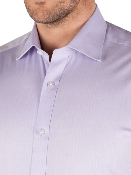 Pierre Cardin Herringbone Classic Fit Long Sleeve Shirt