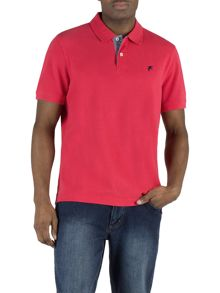 Rupert chambray trim polo shirt