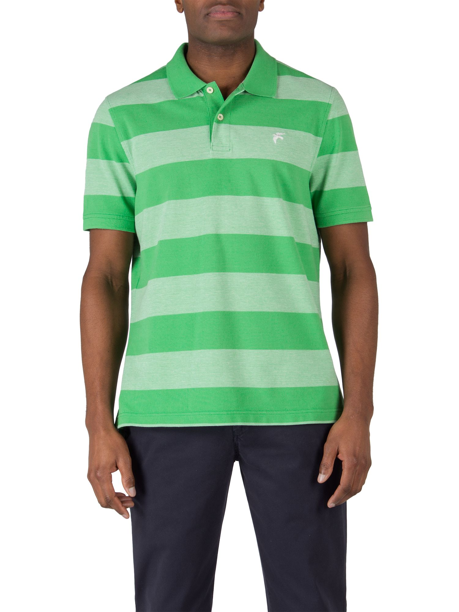 Coates birdseye stripe polo shirt