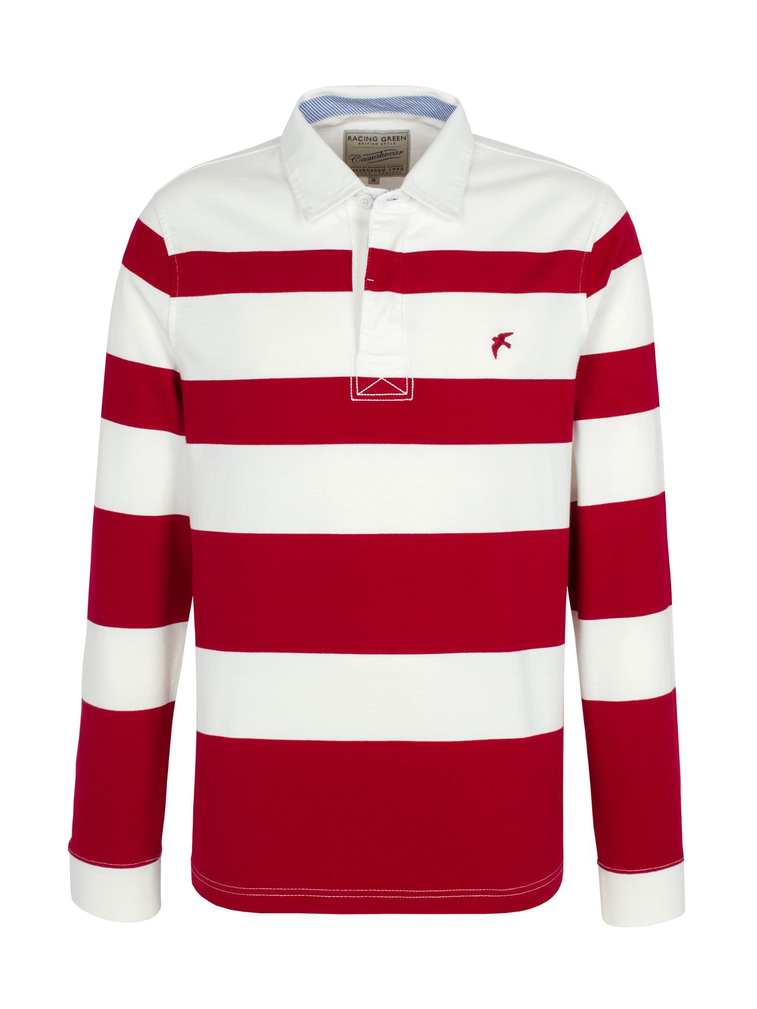 Clements graded stripe rugby shirt