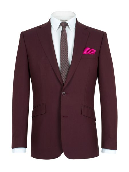 Alexandre of England Tonic notch single breasted suit jacket
