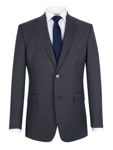 Alexandre of England Stripe notch single breasted suit jacket