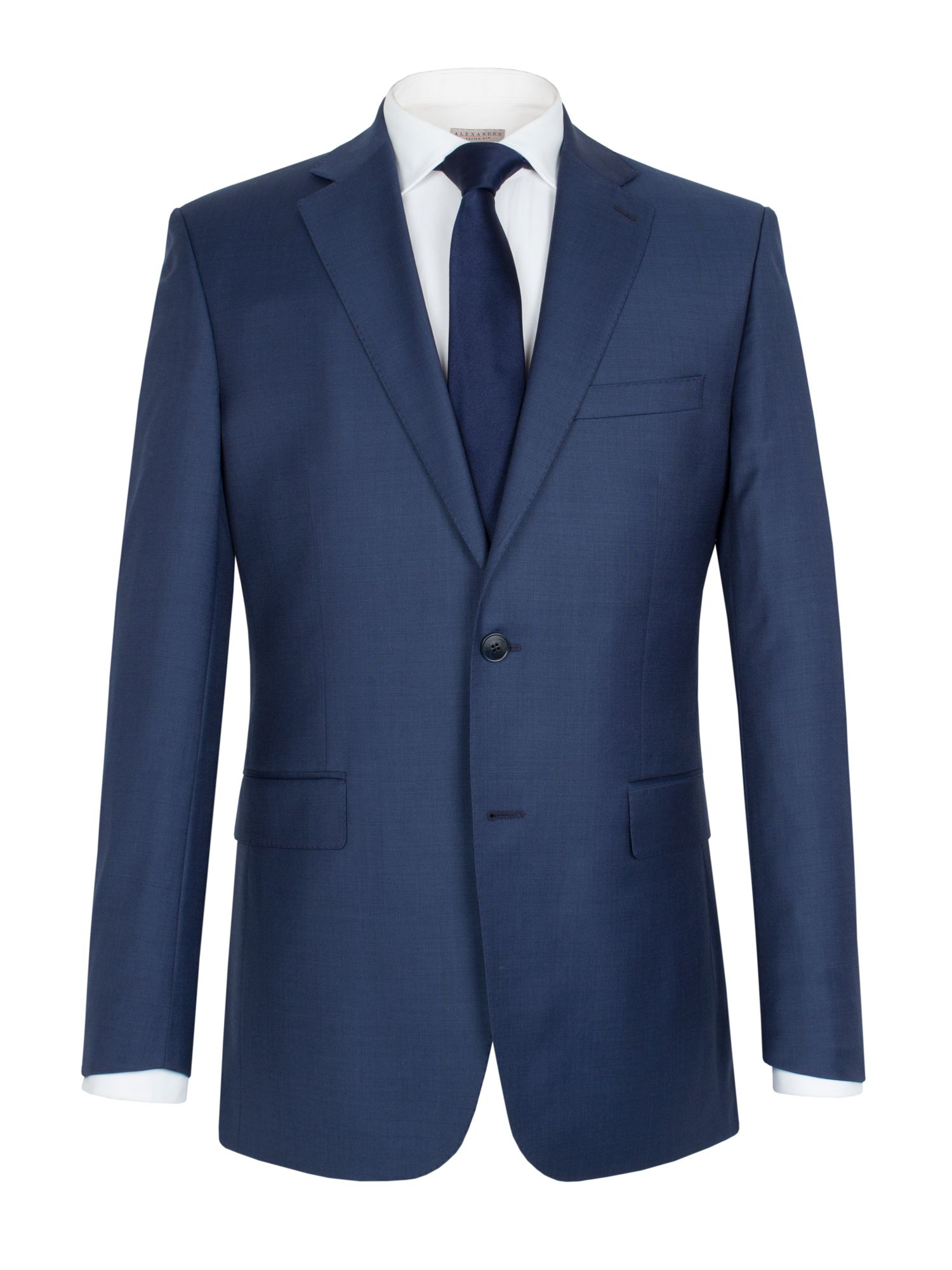 Sharkskin notch single breasted suit jacket