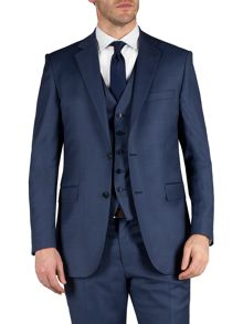 Alexandre of England Sharkskin notch single breasted suit jacket