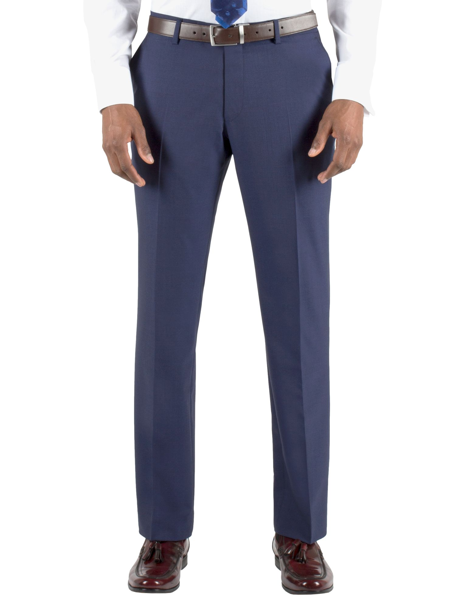 Plain regular fit trouser