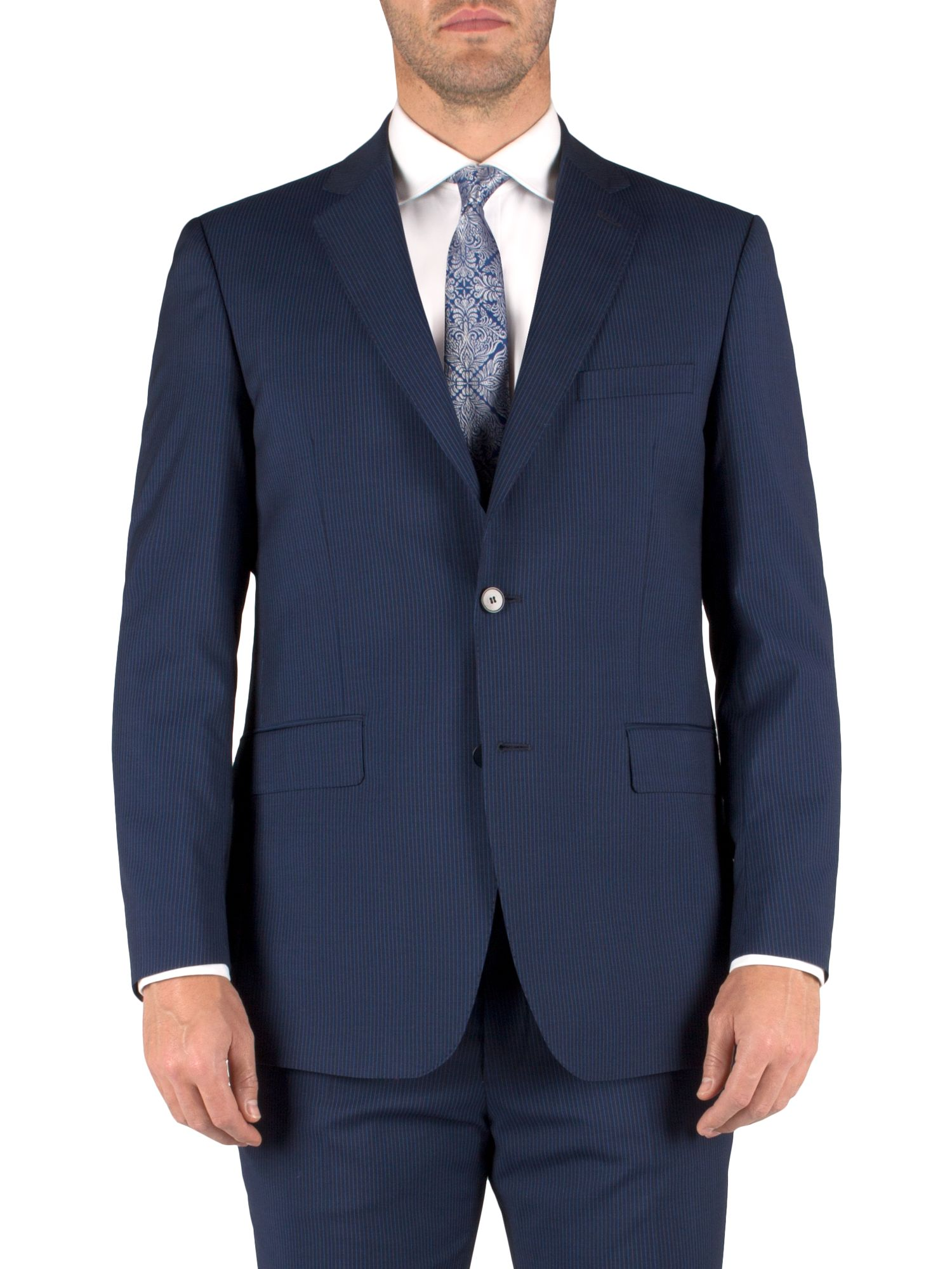 Stripe single breasted classic suit jacket