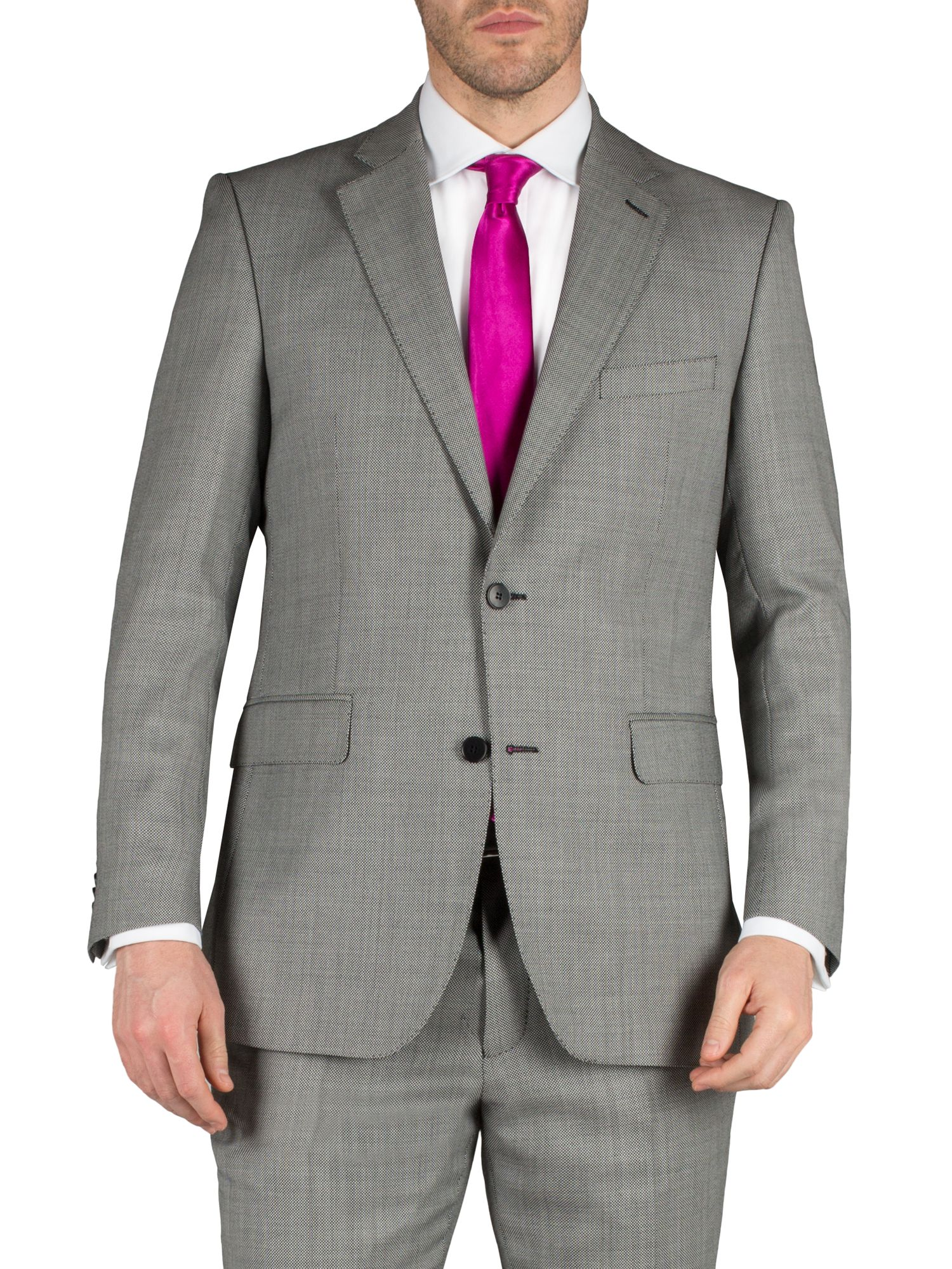 Birdseye notch single breasted suit jacket
