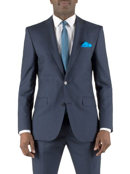 Alexandre of England Stripe notch lapel reg fit jacket