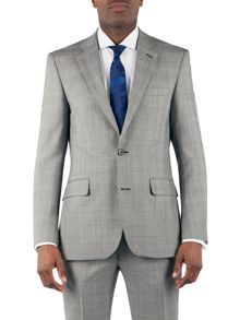 Check notch lapel reg fit jacket