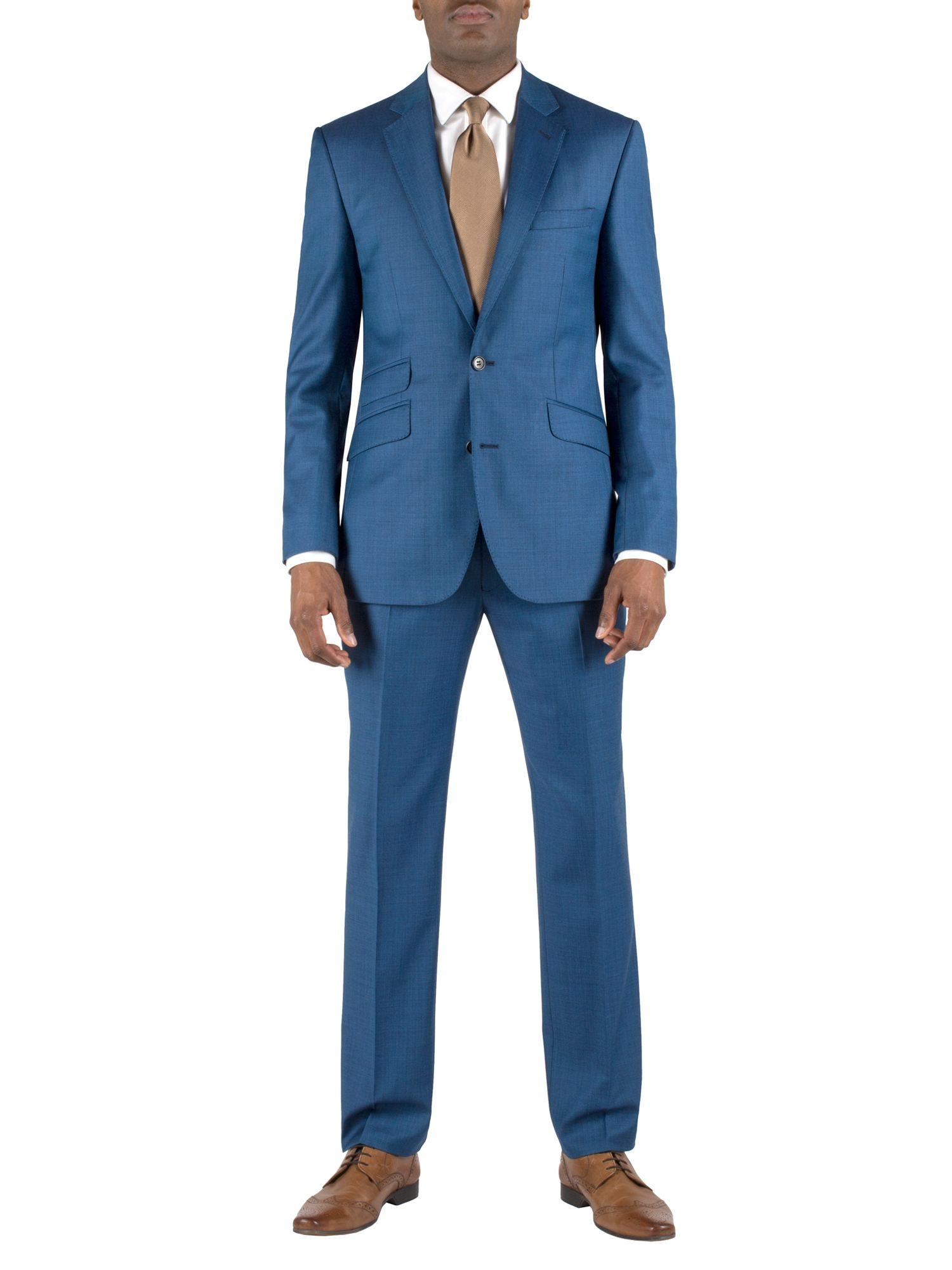 Sharkskin regular fit single breasted suit