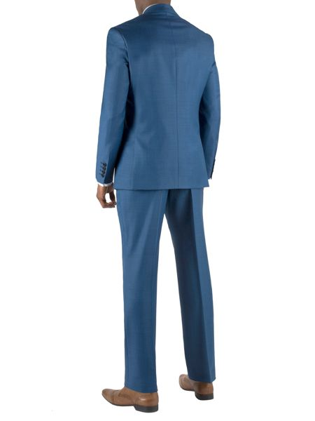 Alexandre of England Sharkskin regular fit single breasted suit