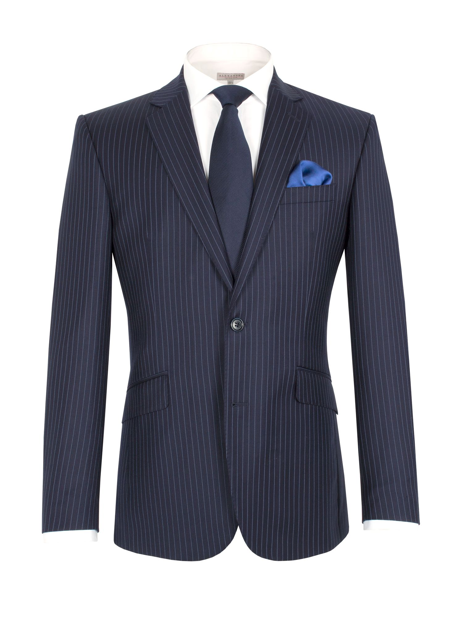 Stripe regular fit single breasted suit