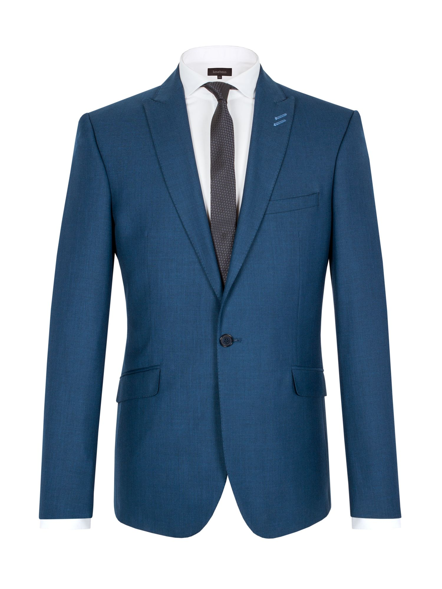 Limehaus Men's Limehaus Pick and pick single breasted suit jacket, Blue