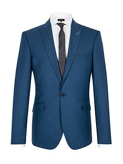 Pick and pick single breasted suit jacket