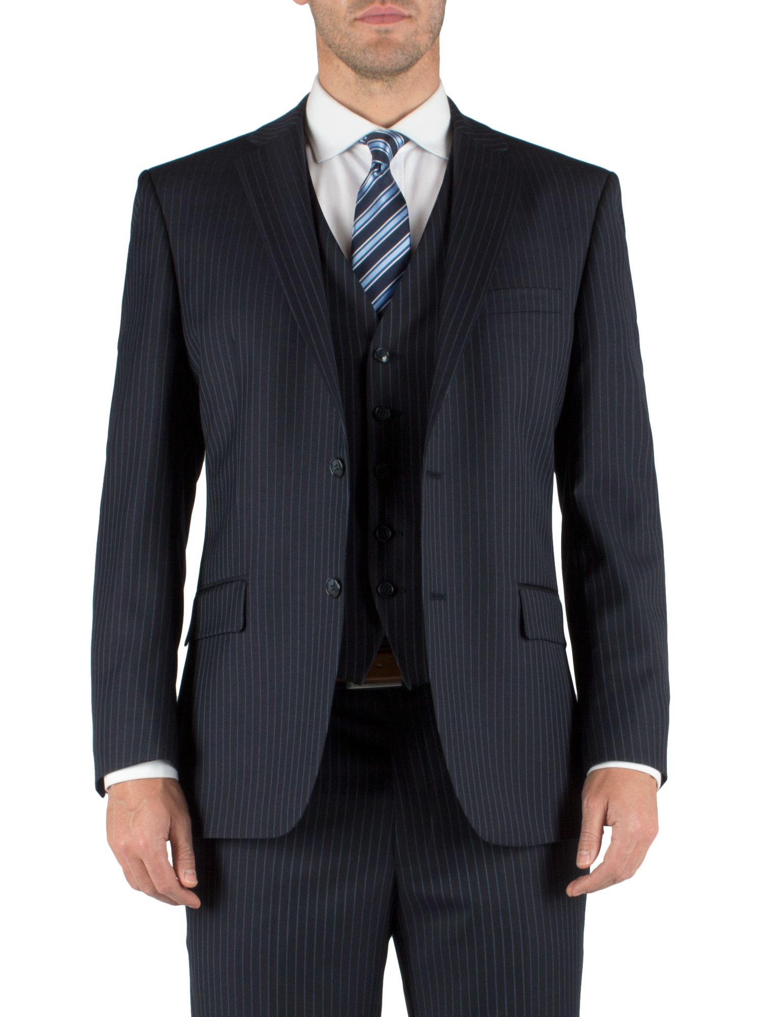 Stripe single breasted suit jacket