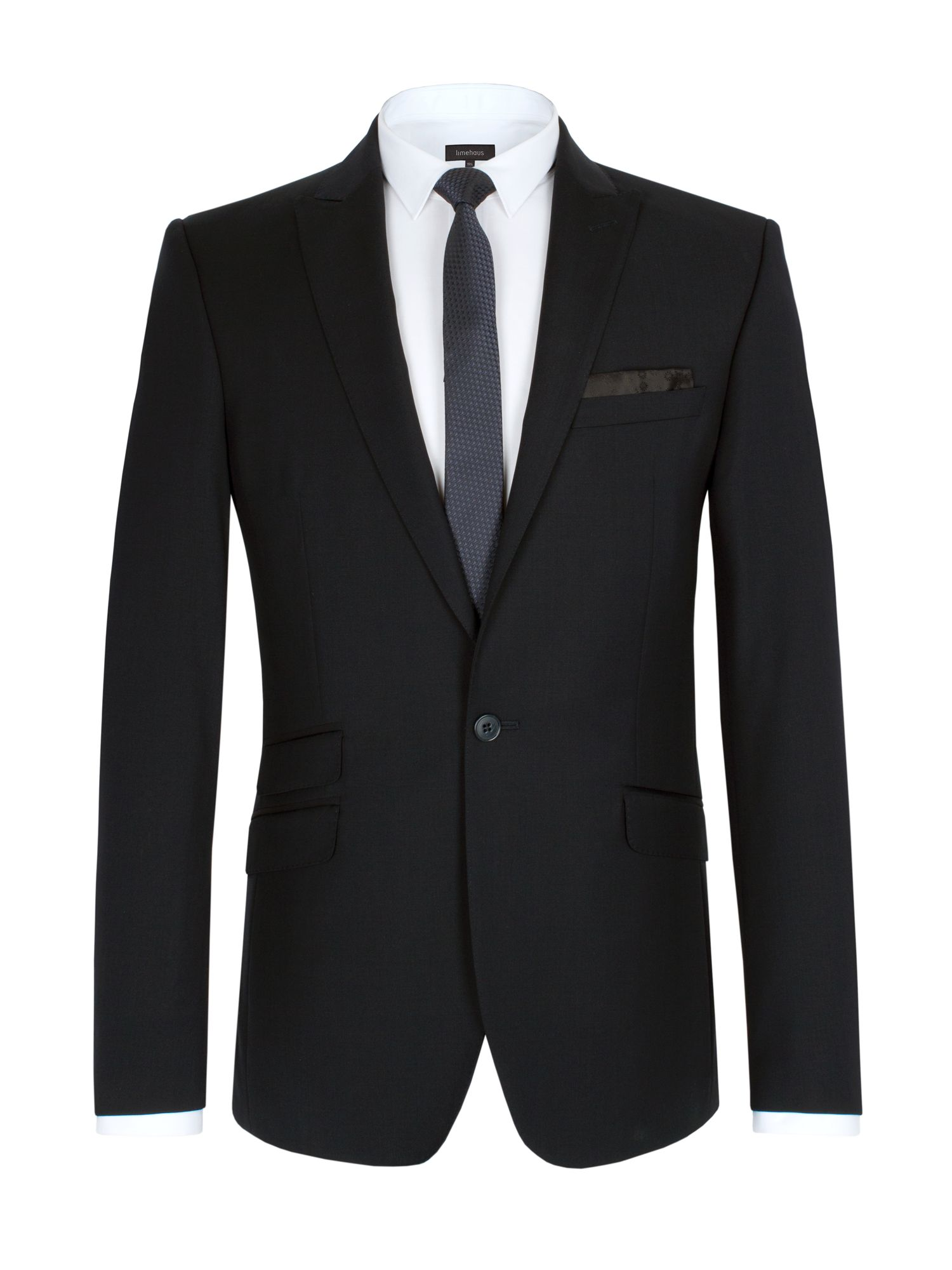 Twill slim fit suit jacket