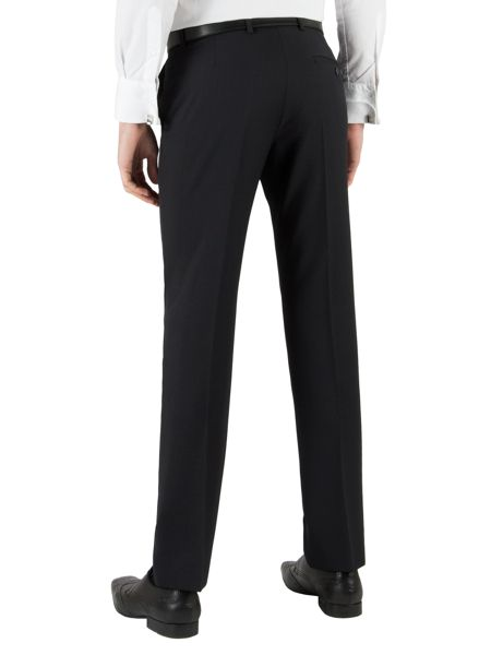 Twill slim fit suit trousers