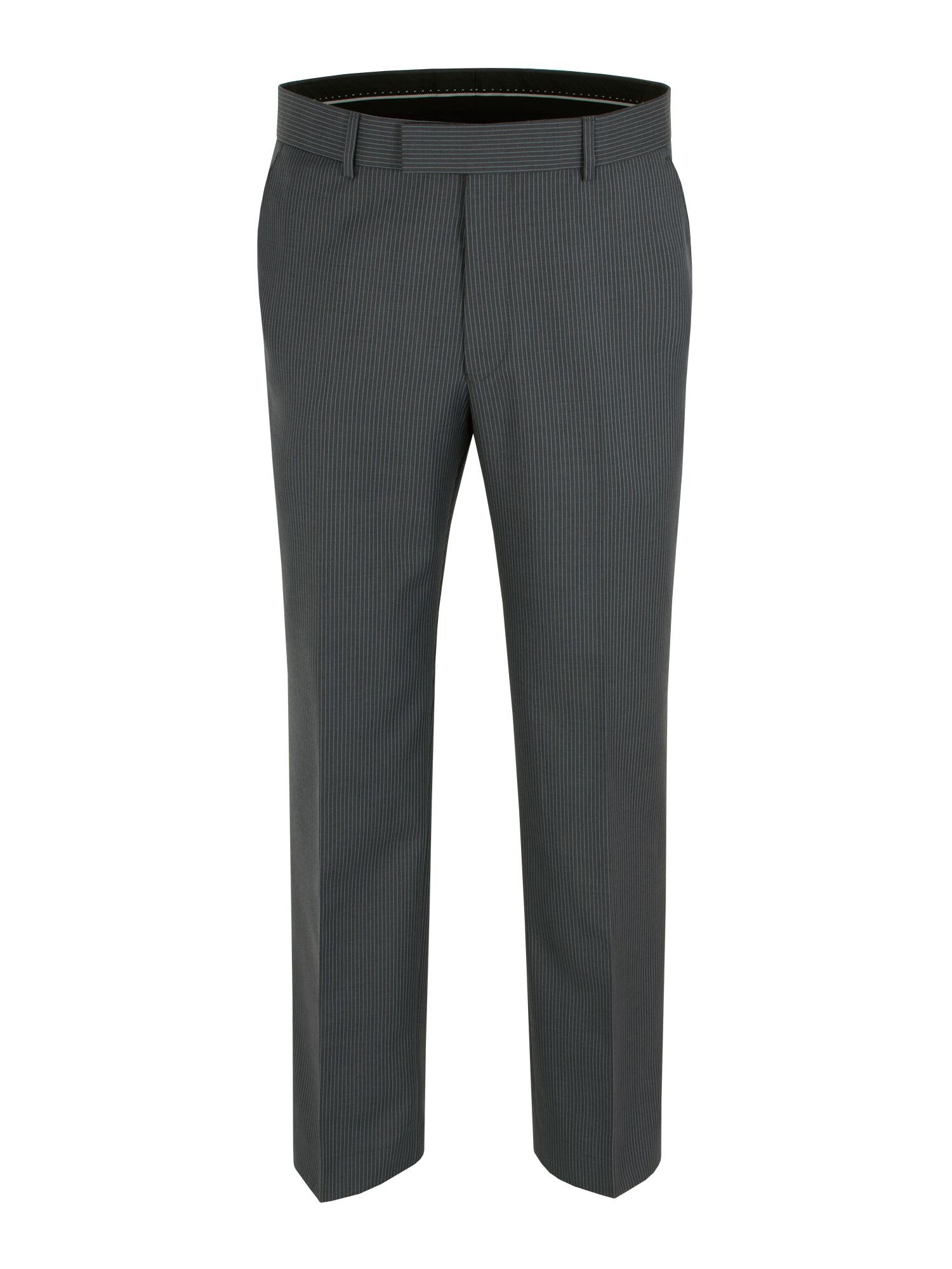 Stripe regular fit trousers