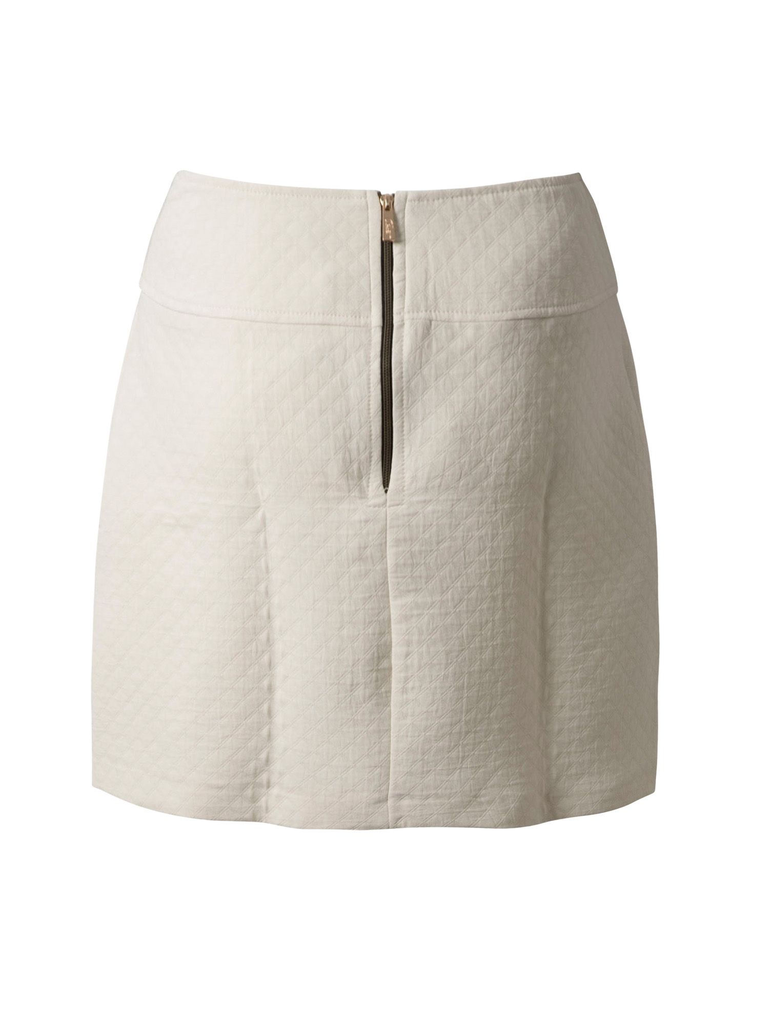 Quilted zip skirt